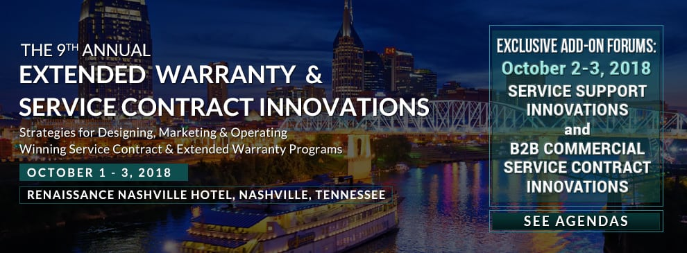 Extended Warranty & Service Contract Innovations Summit October 1 – 3